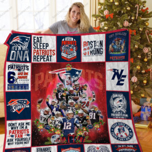 Bl – New England Patriots Quilt Blanket Ver Christmas
