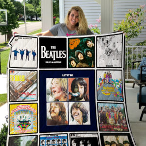The Beatles Albums Quilt Blanket New