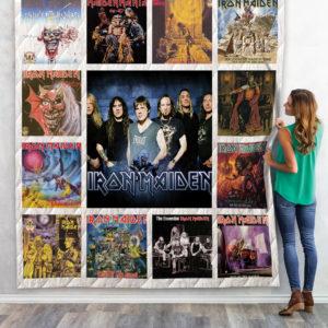 Iron Maiden Compilation Album Quilt Blanket 01