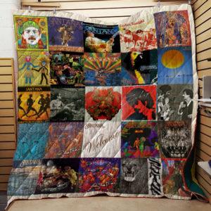 Santana Lp Albums Quilt Blanket For Fans