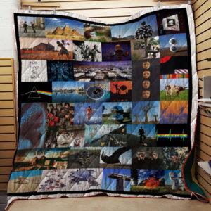 Pink Floyd Band Albums Quilt Blanket