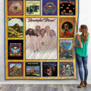 The Best Grateful Dead Albums Quilt Blanket New