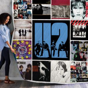 U2 Albums Quilt Blanket New