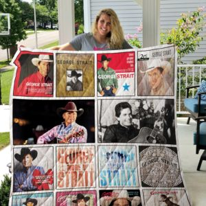 George Strait Complication Albums Quilt Blanket