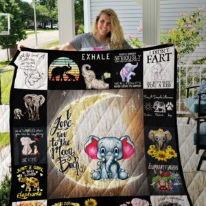 Elephants Quilt Blanket