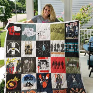 U2 Tour Shirts Quilt Blanket For Fans