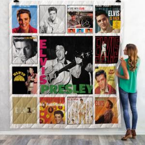Elvis Presley Albums Quilt Blanket 01