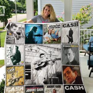 Johnny Cash Albums Quilt Blanket 01