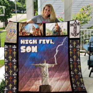 High Five, Jesus Quilt Blanket