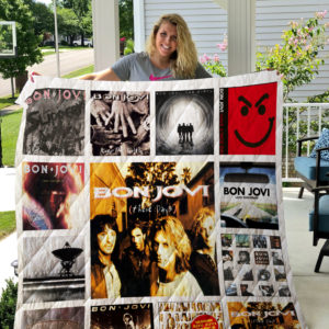 Bon Jovi Quilt Blanket 01