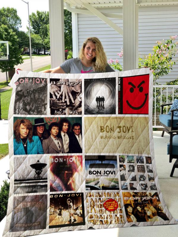 Bon Jovi Quilt Blanket 02