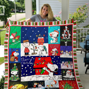 Snoopy Christmas Quilt Blanket