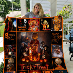 H – Trick 'R Treat Quilt Blanket