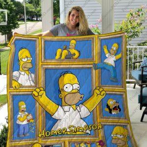 Homer Simpson Quilt Blanket