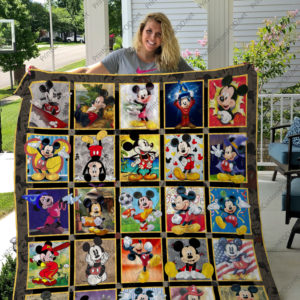 H  – Mickey Mouse Layout 2  Quilt Blanket For Fan