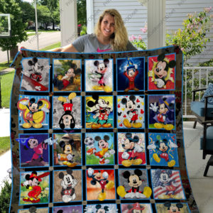 H  – Mickey Mouse Layout 1  Quilt Blanket For Fan