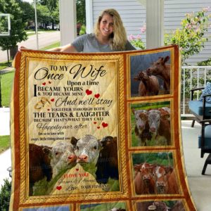 Cow- Wife Quilt Blanket 01