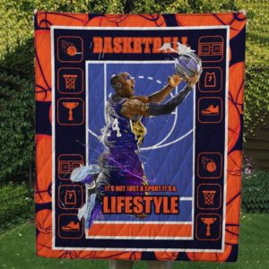 Basketball It's Not Just A Sport It's A Lifestyle Quilt Blanket Great Customized Gifts For Birthday Christmas Thanksgiving Perfect Gifts For Baseball Lover