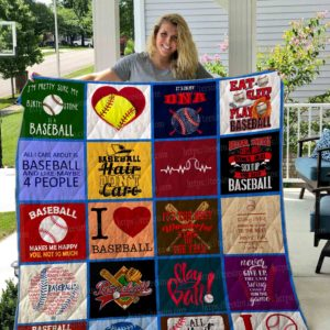 Baseball Hair Don't Care Quilt Blanket Great Customized Gifts For Birthday Christmas Thanksgiving Perfect Gifts For Baseball Lover