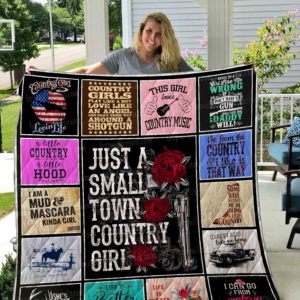 Just A Small Town Country Girls Quilt Blanket Great Customized Blanket Gifts For Birthday Christmas Thanksgiving