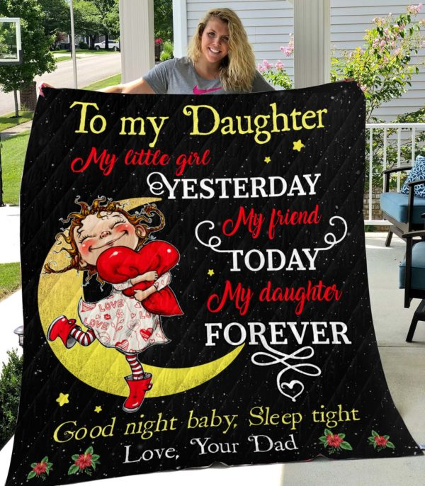 To My Daughter-Dad-Quilt-Blanket
