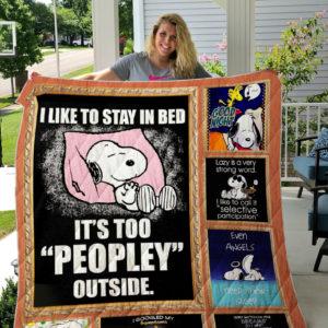 Snoopy (Sleeping) Quilt Blanket 01