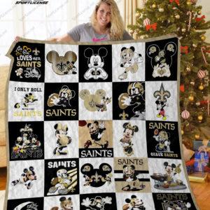 New Orleans Saints Disney Quilt Blanket