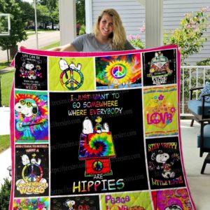 Hippie – Snoopy Quilt Blanket 01
