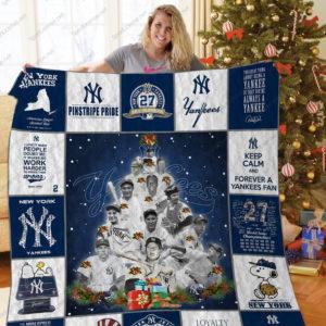 New York Yankees Lg Christmas Quilt Blanket Ver 02