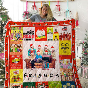 The Big Bang Theory And Friends Tv Show Quilt Blanket