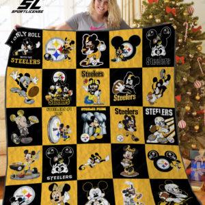 Pittsburgh Steelers Disney Quilt Blanket