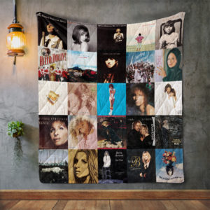 Barbra Streisand Style 3 Album Covers Quilt Blanket