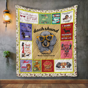 Dachshund Style 01 Quilt Blanket