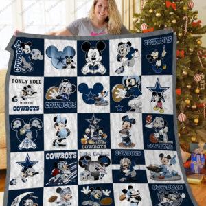 Dallas Cowboys Disney Quilt Blanket