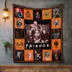Friends Psychodynamics Horror Movie Characters Halloween Quilt Blanket