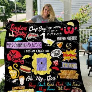 Friends Tv Show Quilt Blanket