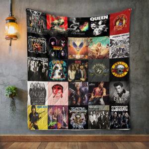 Rock Music For Fans Quilt Blanket