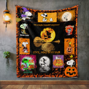 Snoopy Halloween Quilt Blanket