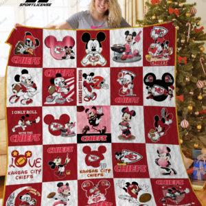 Kansas City Chiefs Disney Quilt Blanket