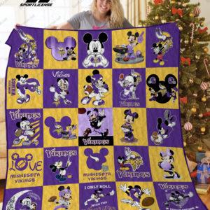 Minnesota Vikings Disney Quilt Blanket