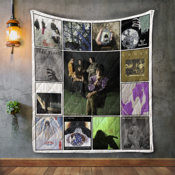 Ghost Album Covers Quilt Blanket