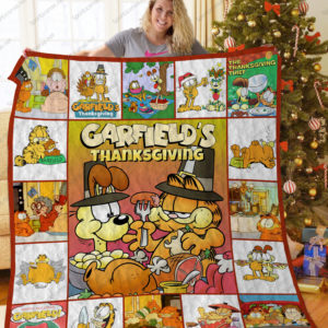 Bl – Garfield'S Thanksgiving Quilt Blanket Ver 17