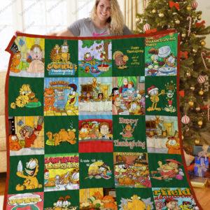 Bl – Garfield'S Thanksgiving Quilt Blanket Ver 25