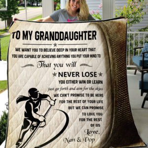 Hockey-To Our Granddaughter We Want You To Believe Deep In Your Heart Quilt Buckcherry Album Covers Quilt Blanket