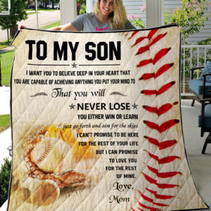 Baseball-Mom-To My Son-Quilt Blanket
