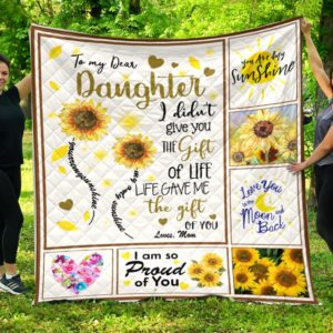 To My Dear Daughter Quilt Blanket