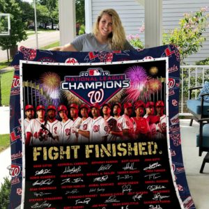 Washington Nationals Quilt Blanket