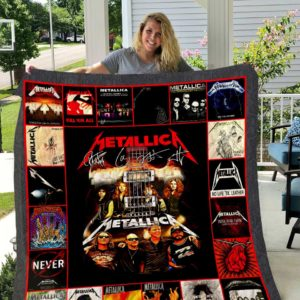 Metallica No Life Till Leather Quilt Blanket Great Customized Gifts For Birthday Christmas Thanksgiving Perfect Gifts For Metallica Lover
