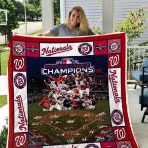Washington Nationals Quilt Blanket