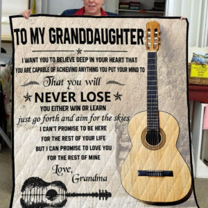 Guitar-Grandma To My Granddaughter I Want You To Believe Quilt Blanket
